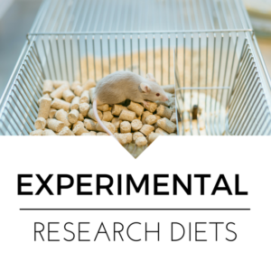 mouse in cage for experimental diet research